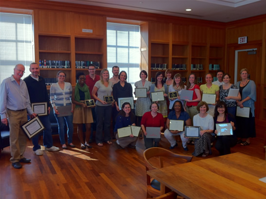Picture of all faculty and student award winners