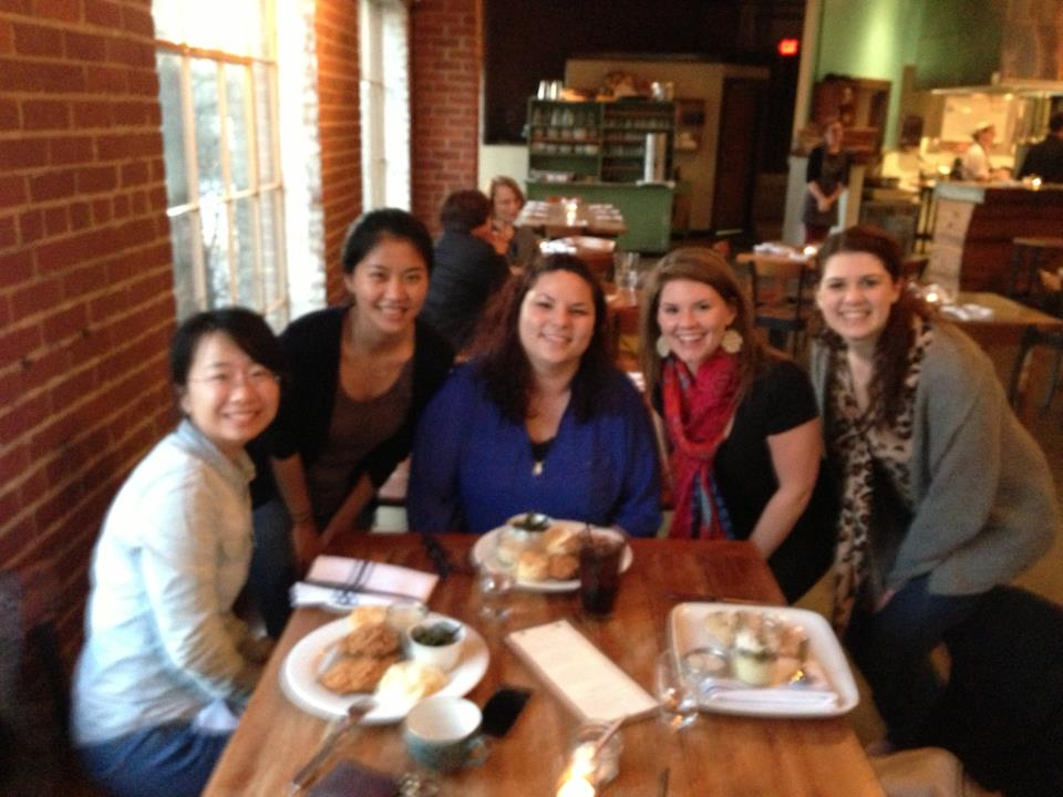 Graduate students out to eat together